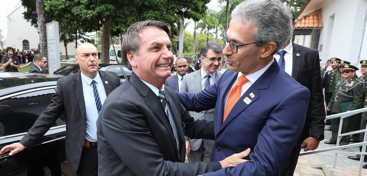 Jair Bolsonaro e Romeu Zema