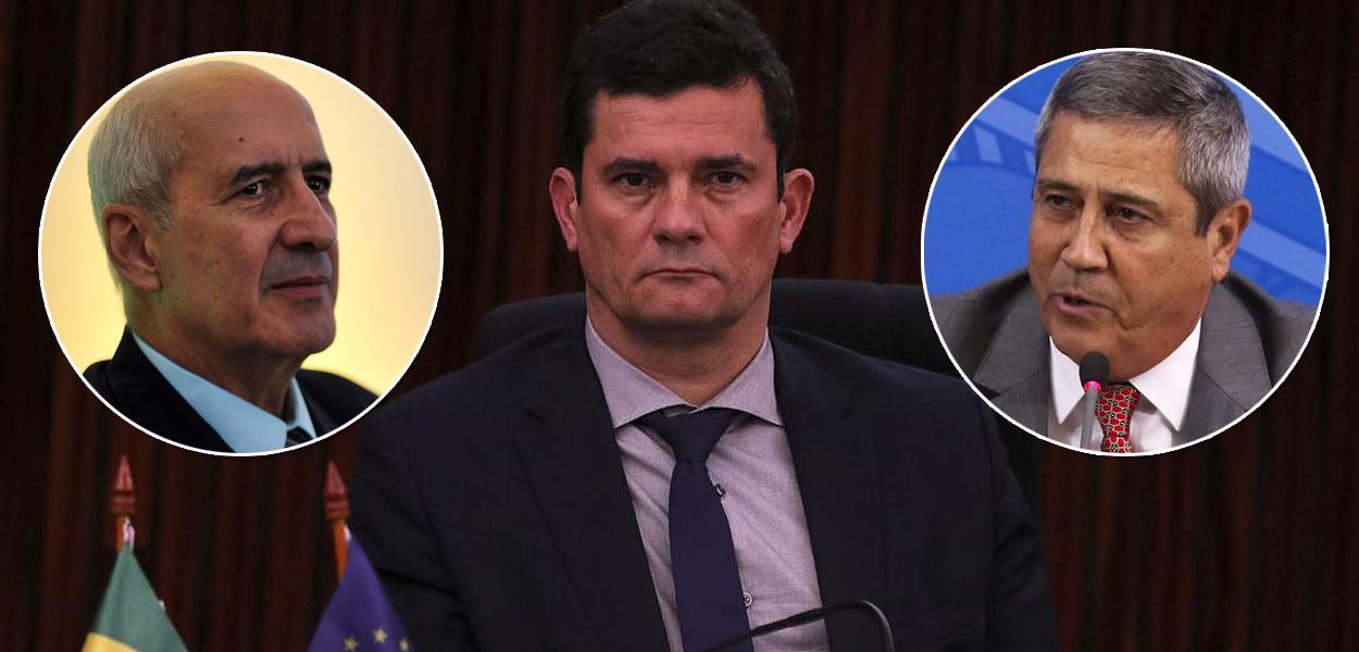 Luiz Eduardo Ramos, Sérgio Moro e Braga Netto
