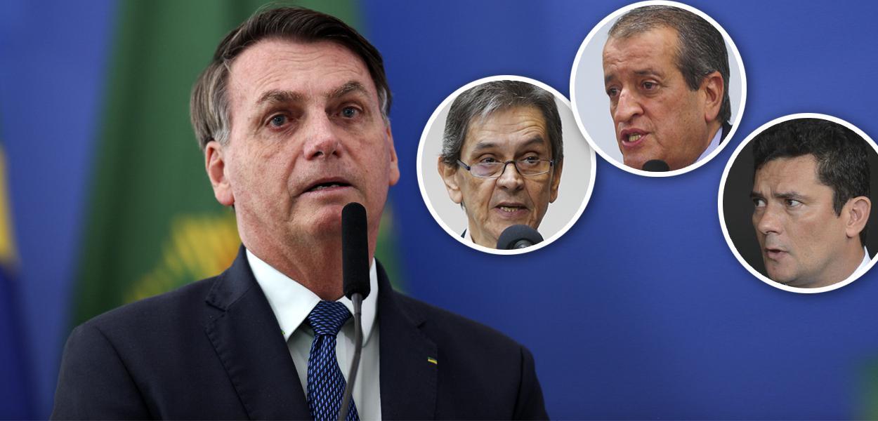 Jair Bolsonaro, Roberto Jefferson, Valdemar Costa Neto e Sérgio Moro