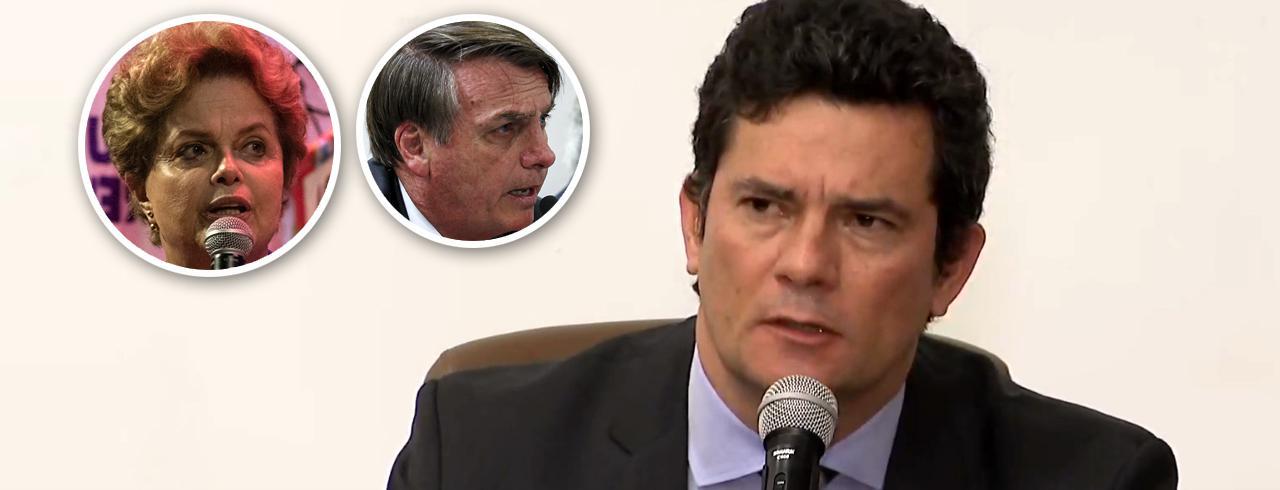 Dilma Rousseff, Jair Bolsonaro e Sérgio Moro