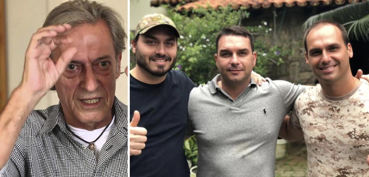 José Simão; Carlos, Flávio e Eduardo Bolsonaro
