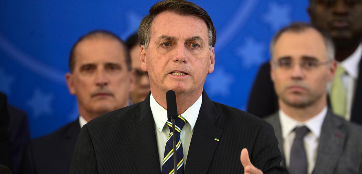 Jair Bolsonaro faz Pronunciamento no Palácio do Planalto
