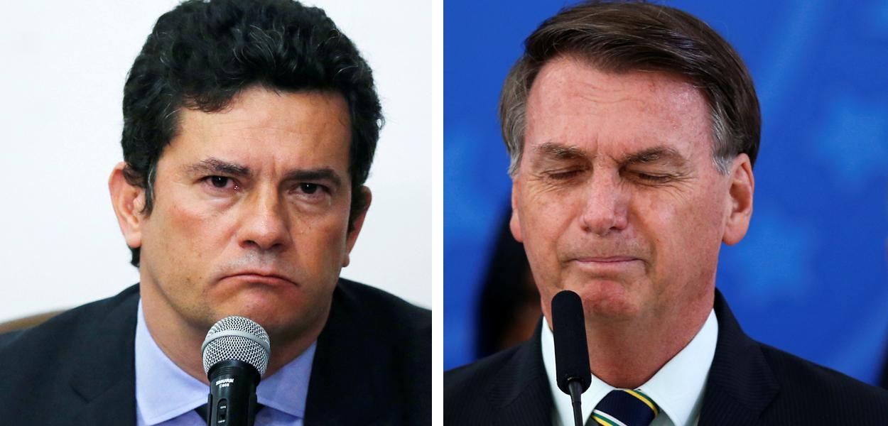 Moro e Bolsonaro.