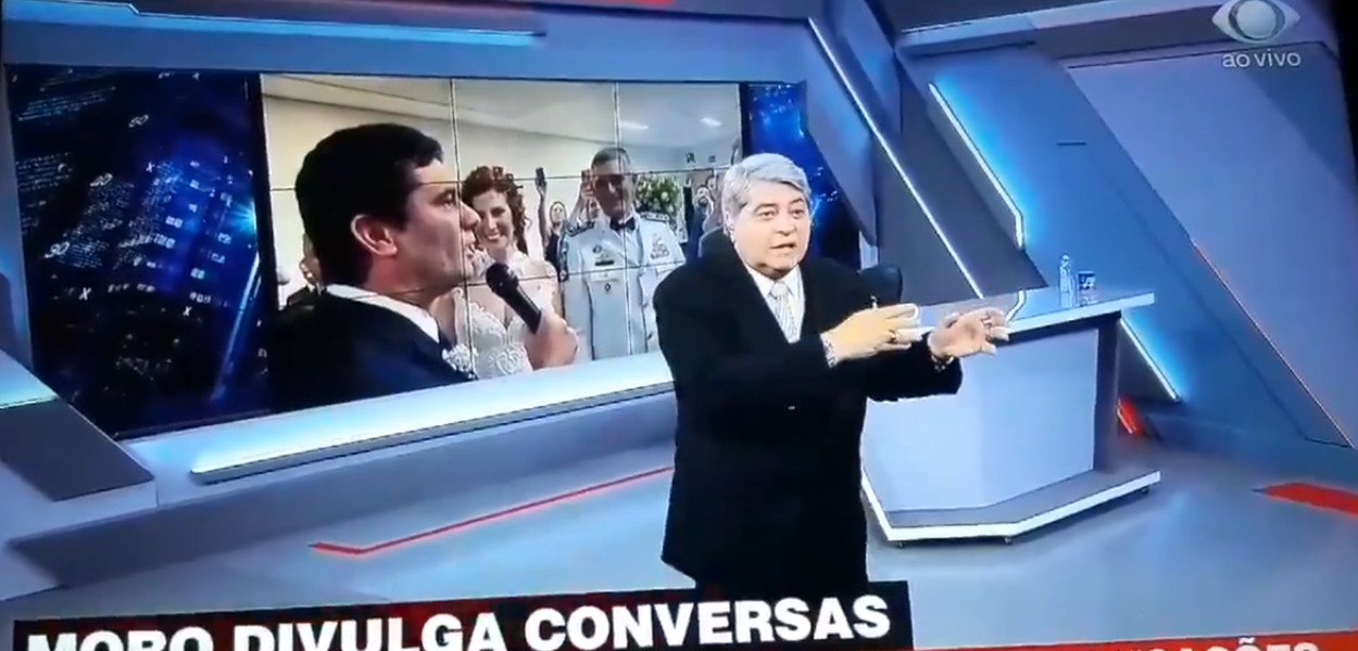 José Luiz Datena e Sérgio Moro