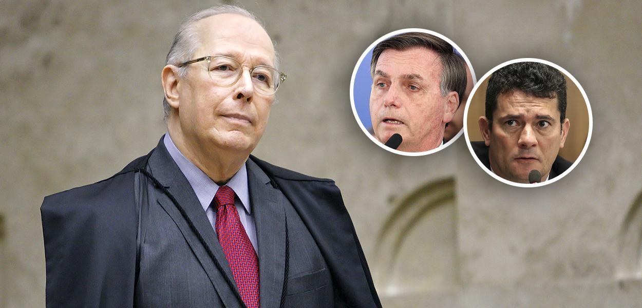 Celso de Mello, Jair Bolsonaro e Sérgio Moro