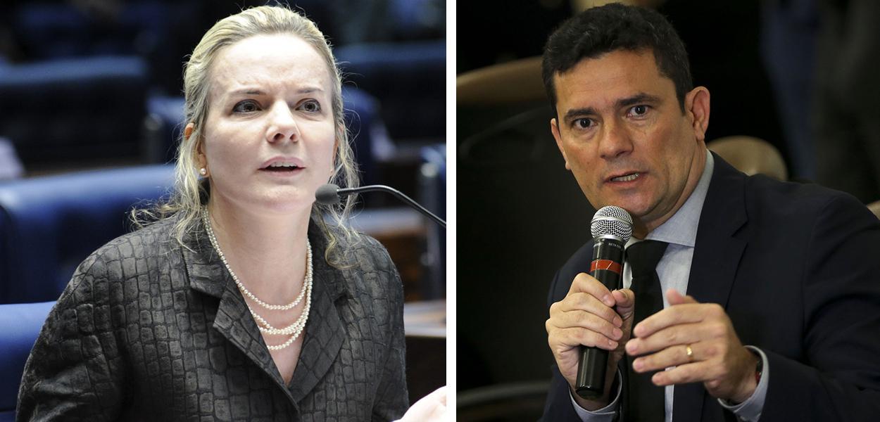 Gleisi Hoffmann e Sergio Moro