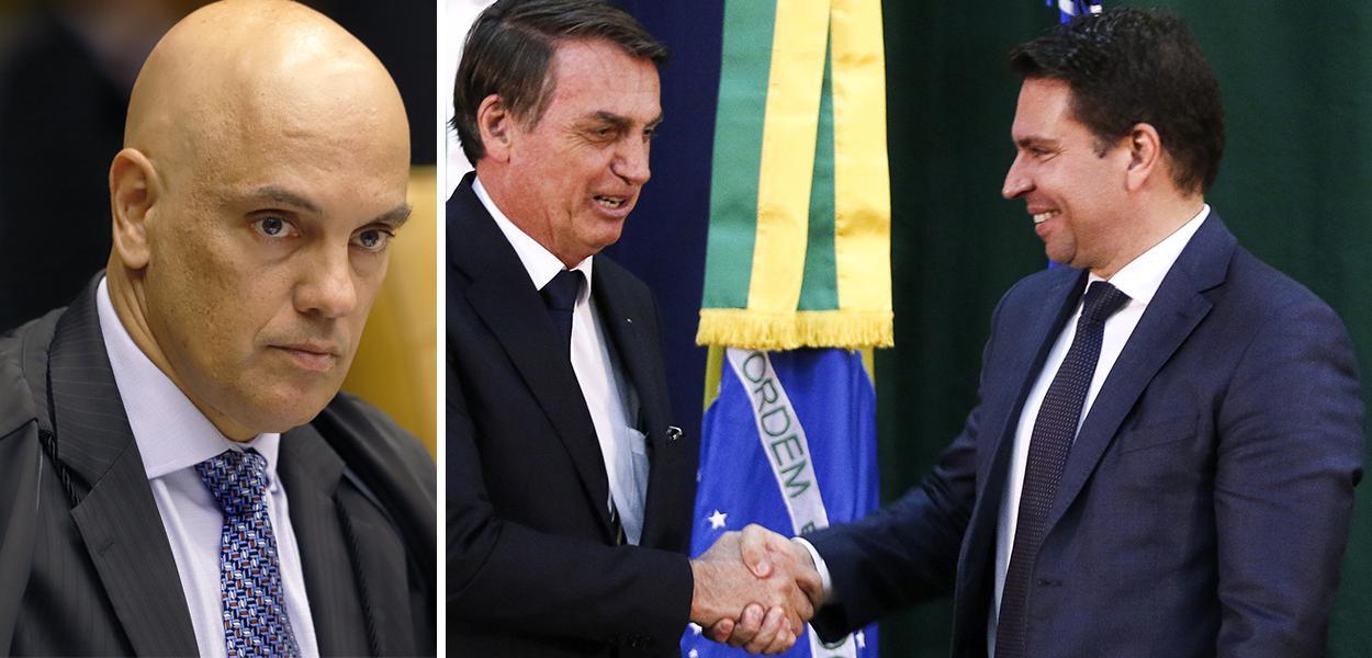 Alexandre de Moraes, Jair Bolsonaro e Alexandre Ramagem