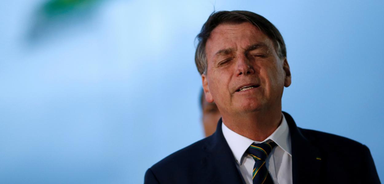 Presidente Jair Bolsonaro em Brasília 20/04/2020