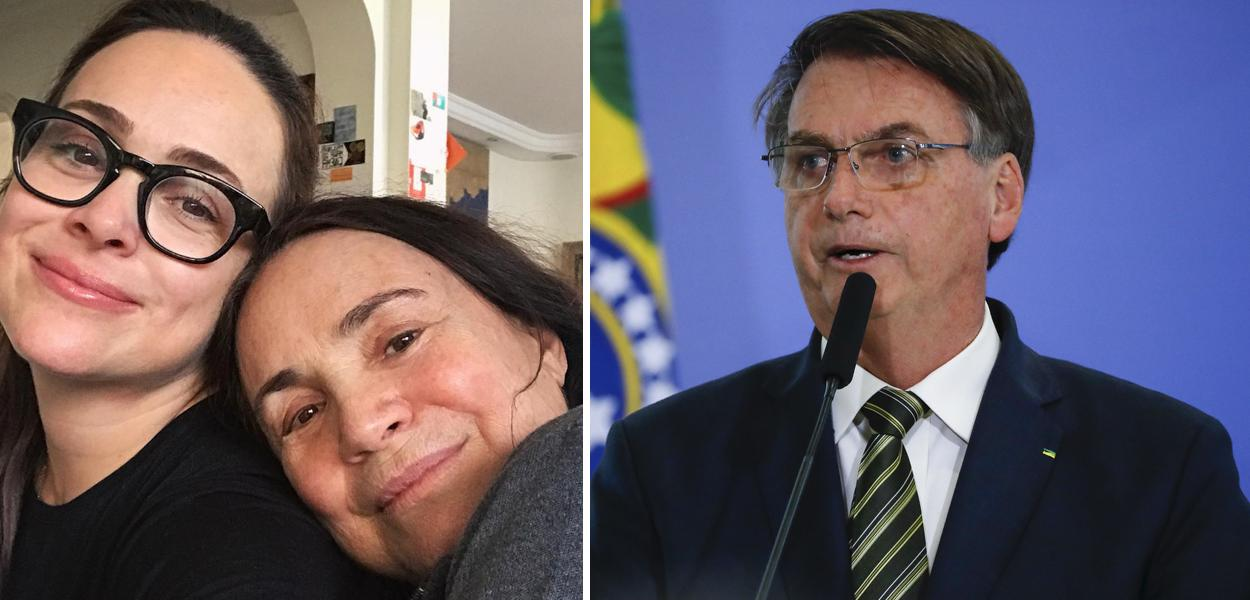 Gabriela Duarte, Regina Duarte e Jair Bolsonaro