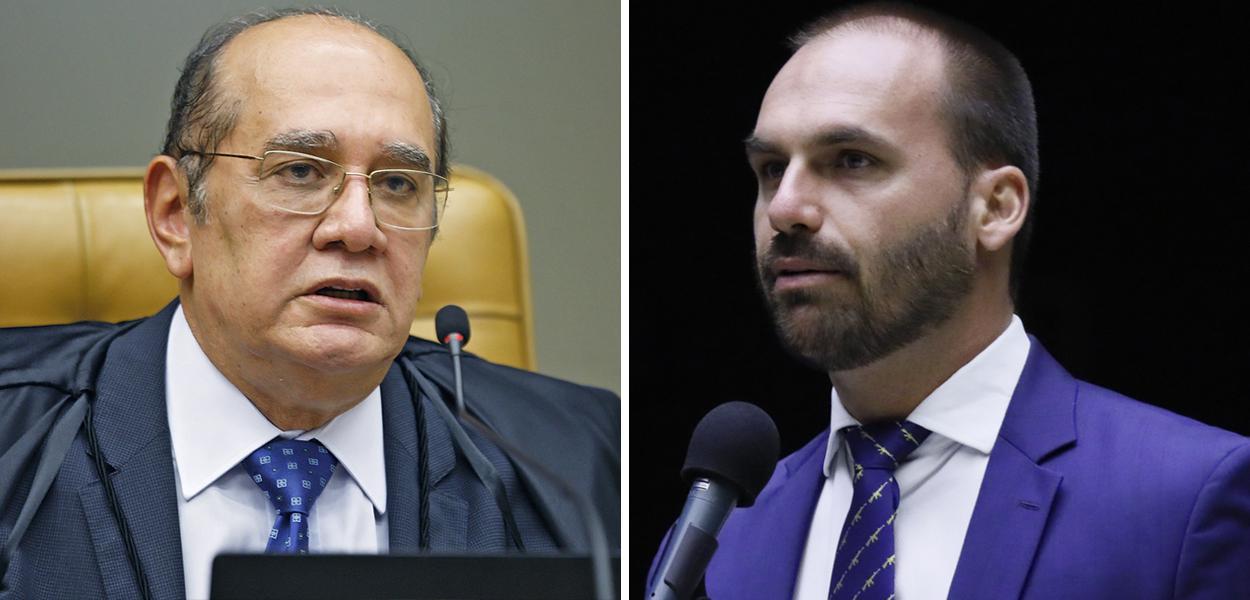 Gilmar Mendes e Eduardo Bolsonaro