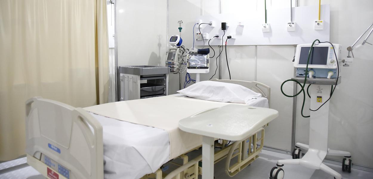 Hospital de campanha no Rio de Janeiro