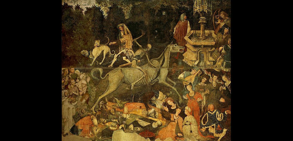 O Triunfo da Morte, afresco, Palermo, Itália (artista desconhecido).