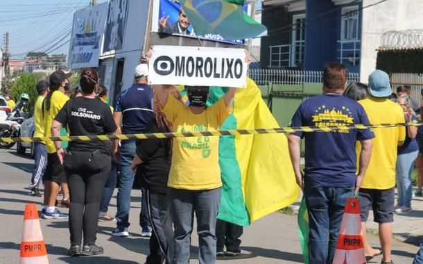 Bolsonarista em protesto