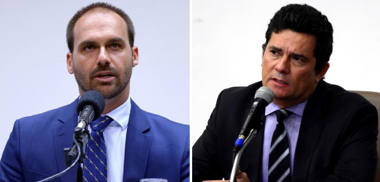 Eduardo Bolsonaro e Sergio Moro
