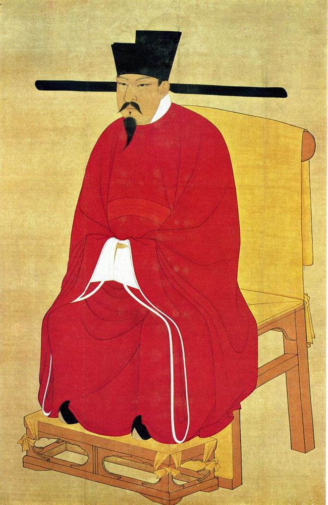 O imperador chinês Shen Zong, criador do chapéu de distância social (Ilustração)