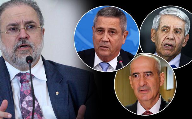 Augusto Aras, Braga Netto, Augusto Heleno,  Luiz Eduardo Ramos