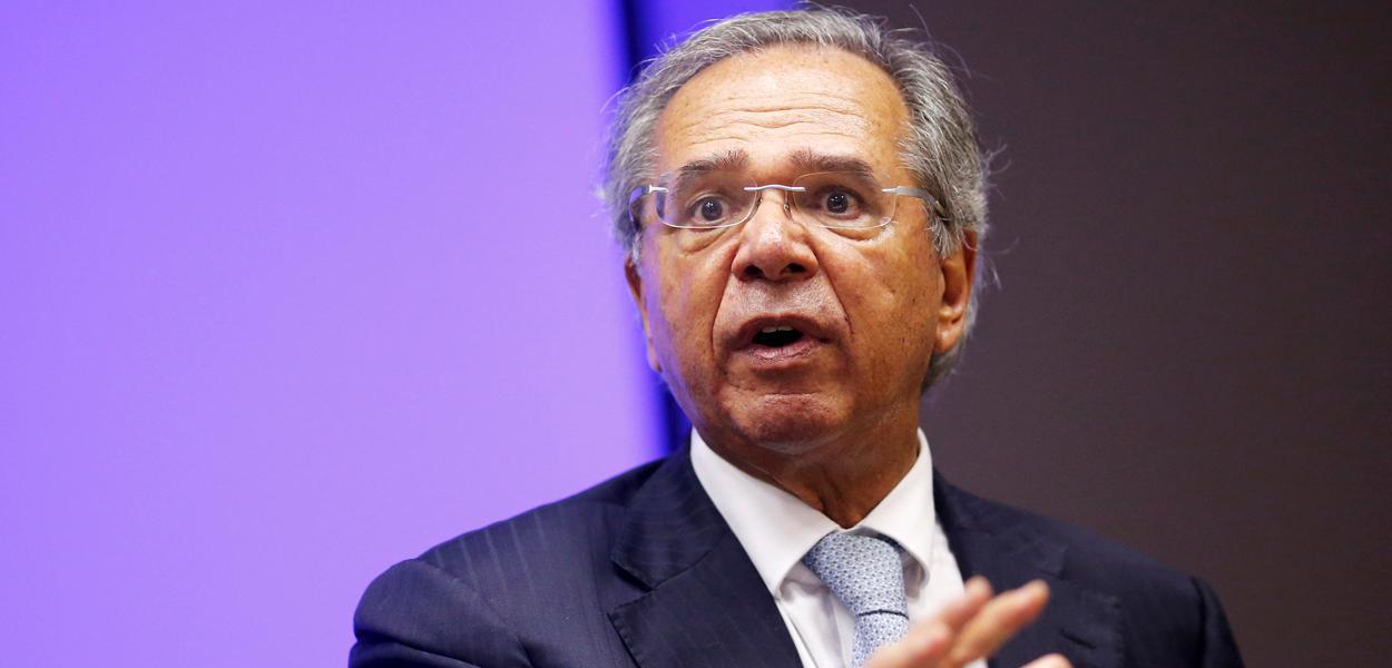 Ministro da Economia, Paulo Guedes, participa de entrevista coletiva 16/01/2020