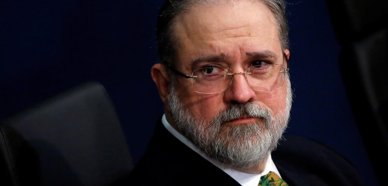 Procurador-geral da República, Augusto Aras, durante cerimônia de posse 2/10/2019