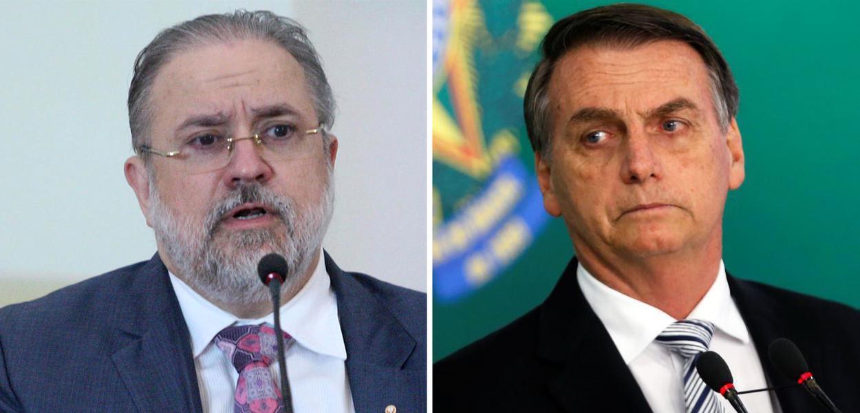 Augusto Aras e Jair Bolsonaro