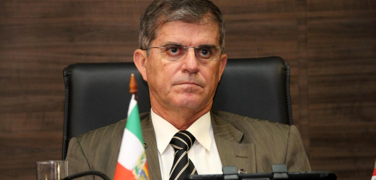 Secretário nacional de Segurança Pública, general Guilherme Theóphilo, em visita a Santa Catarina