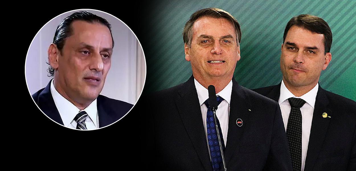 Frederick Wassef, Jair Bolsonaro e Flávio Bolsonaro