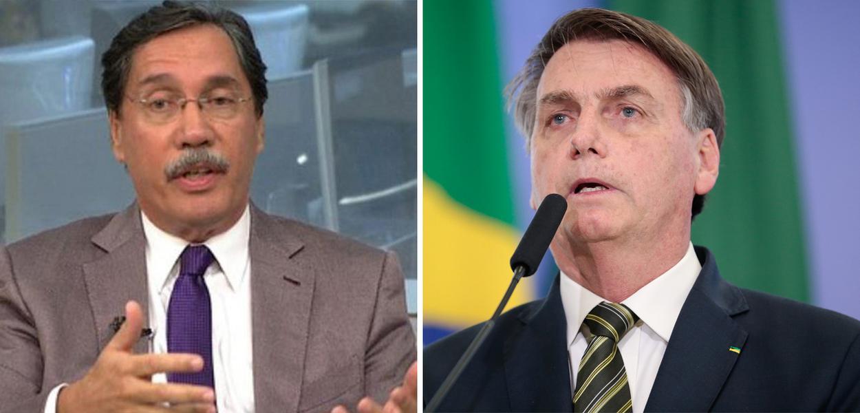 Merval Pereira e Jair Bolsonaro