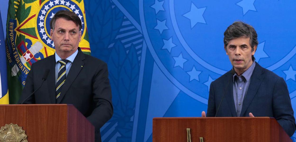 Jair Bolsonaro e Nelson Teich