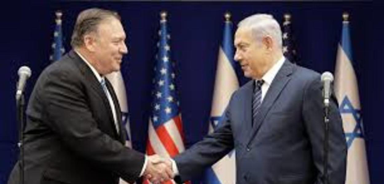 Mike Pompeo e Benjamin Netanyahu