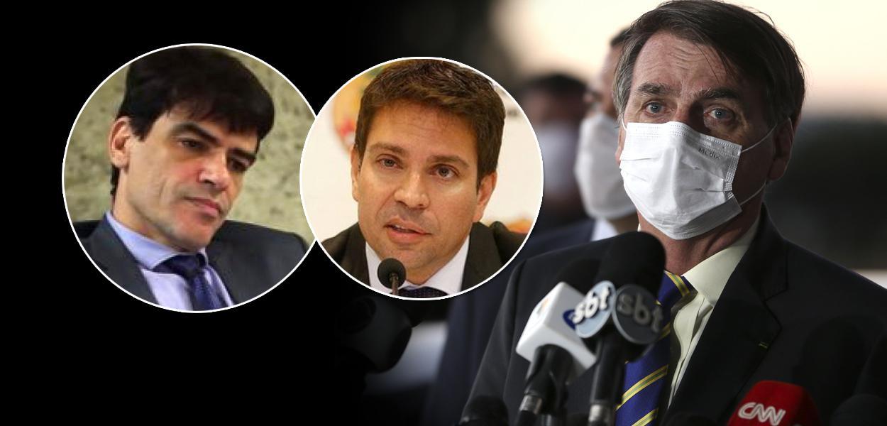 Alexandre Ramagem, Alexandre Saraiva e Jair Bolsonaro