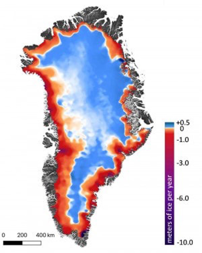 Perda de gelo na Groenlândia
