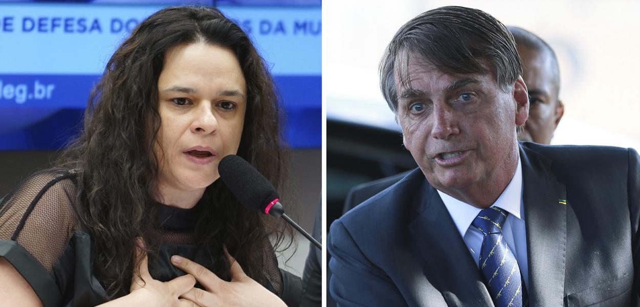 Janaína Paschoal e Jair Bolsoanro