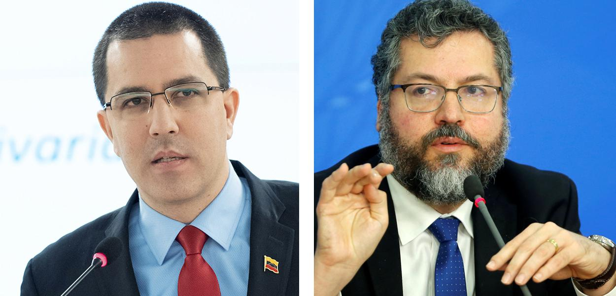 Jorge Arreaza e Ernesto Araújo