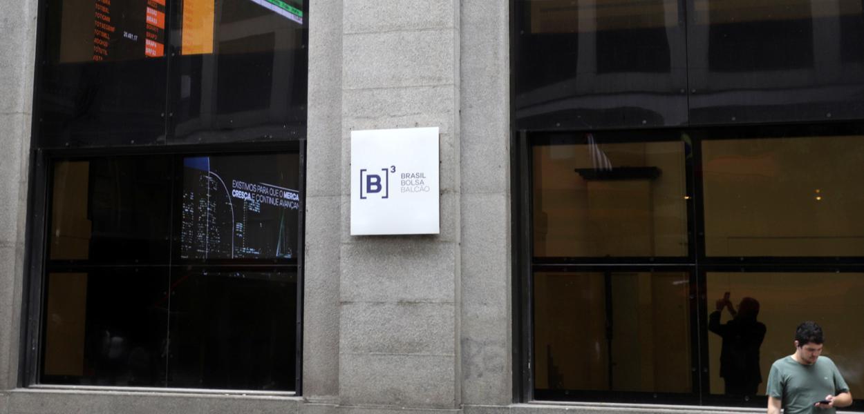 Vista externa da B3, a bolsa de valores de São Paulo 26/02/2020