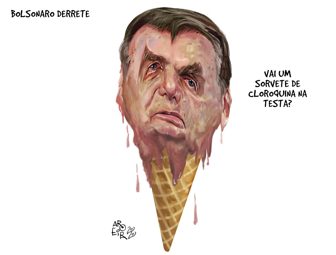 Bolsonaro derrete - Renato Aroeira - Brasil 247