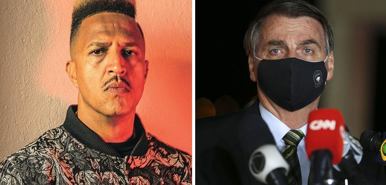 Mano Brown e Jair Bolsonaro