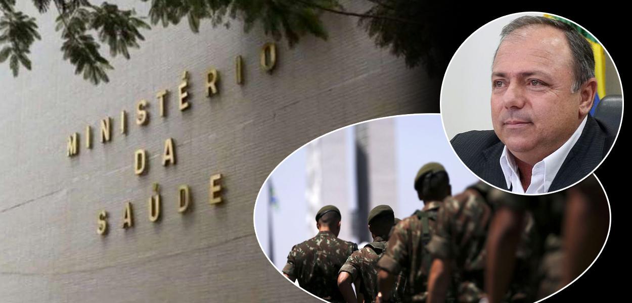 Ministério da Saúde, Eduardo Pazuello e militares