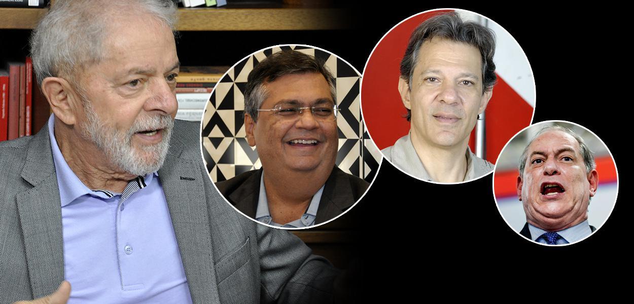 Lula, Dino, Haddad e Ciro