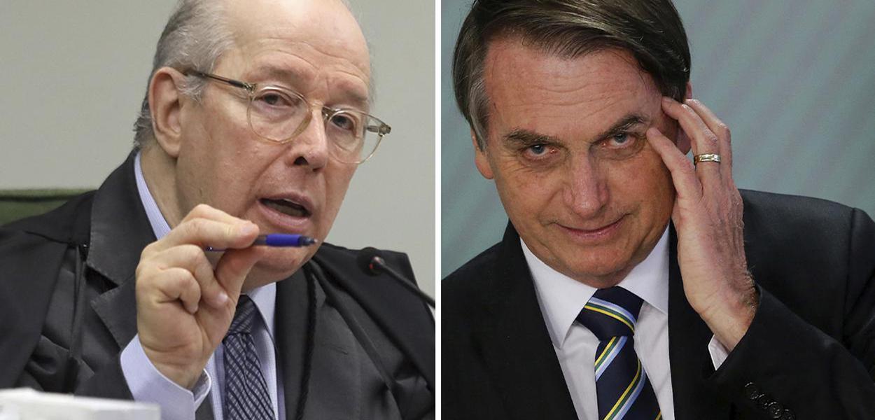 Ministro do STF Celso de Mello e Jair Bolsonaro