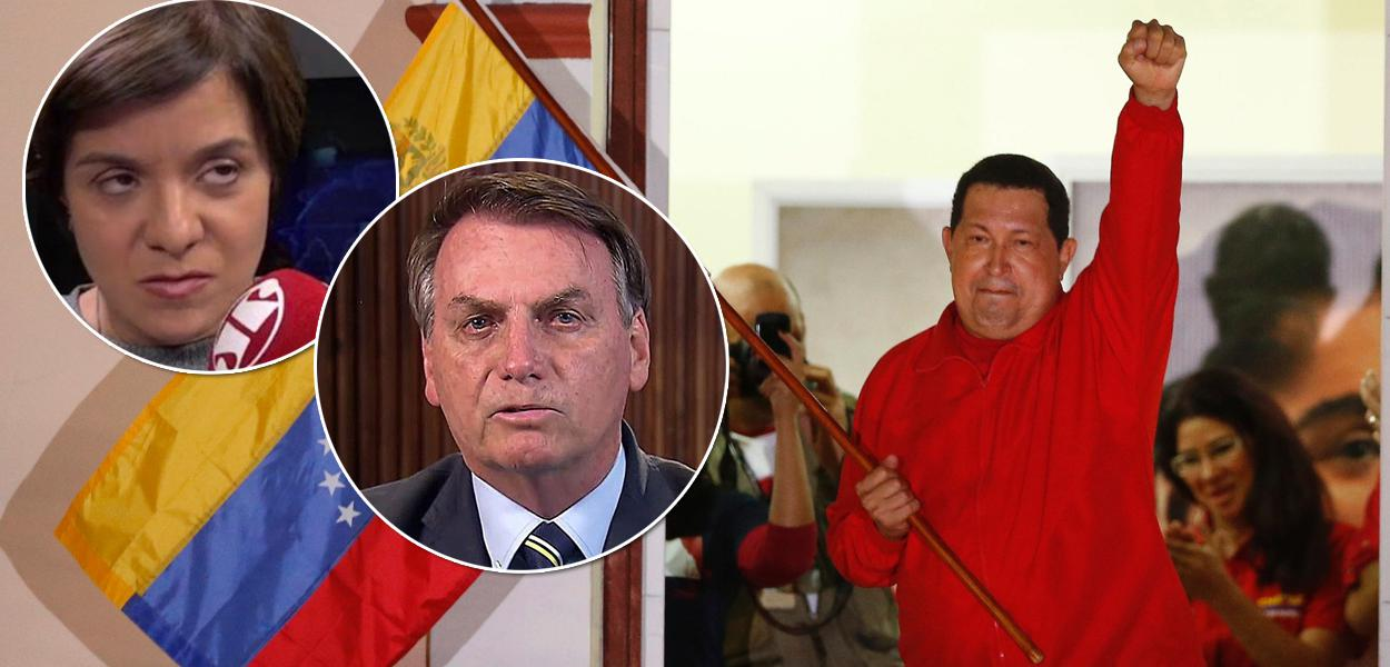 Vera Magalhães, Jair Bolsonaro e Hugo Chávez