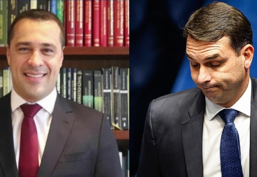 Victor Granado Alves e Flávio Bolsonaro