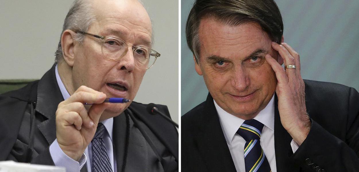 Celso de Mello e Jair Bolsonaro