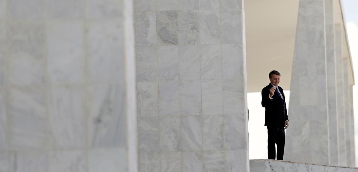 Presidente Jair Bolsonaro no Palácio do Planalto 27/04/2020