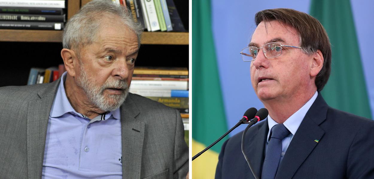 Lula e Jair Bolsonaro