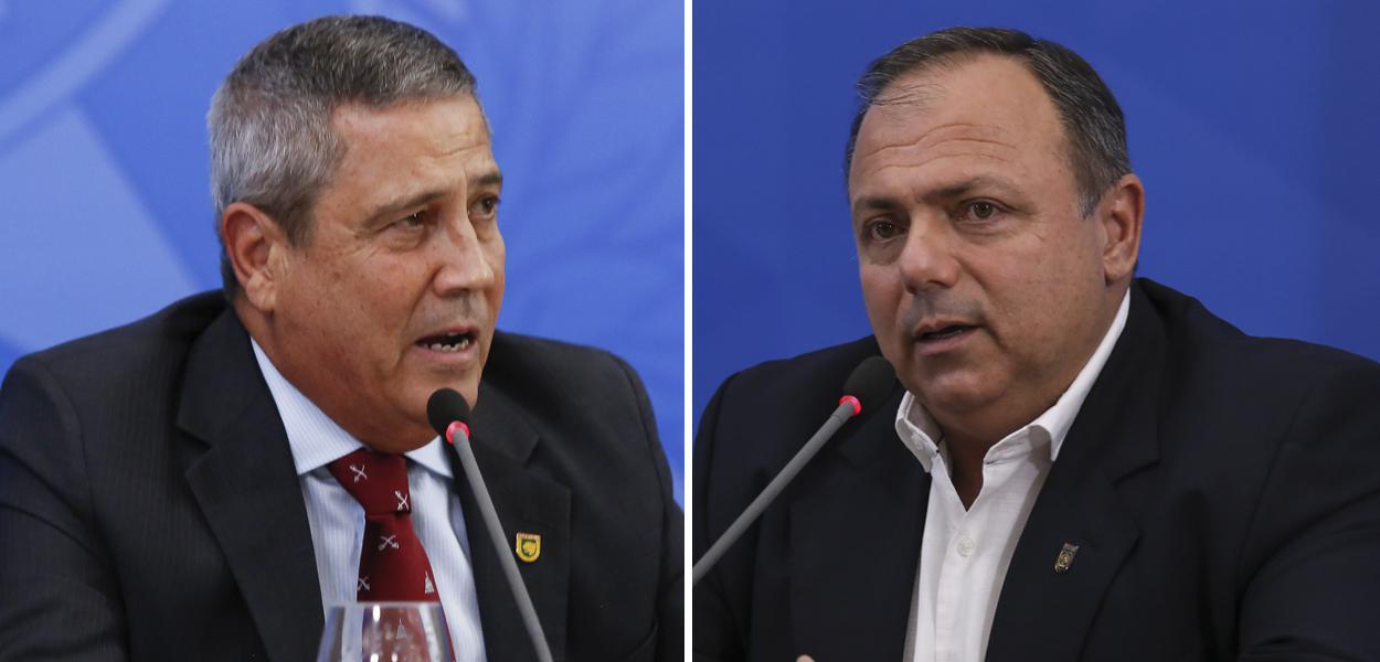 Braga Netto e Eduardo Pazuello