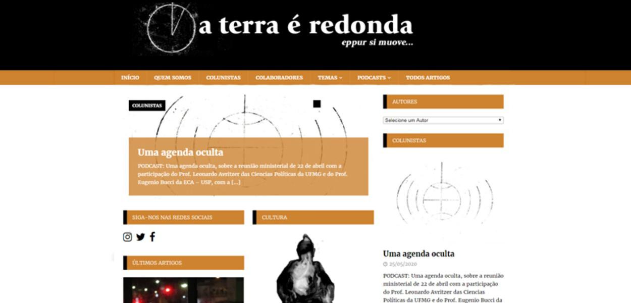 """Site """"A Terra é Redonda"""""""