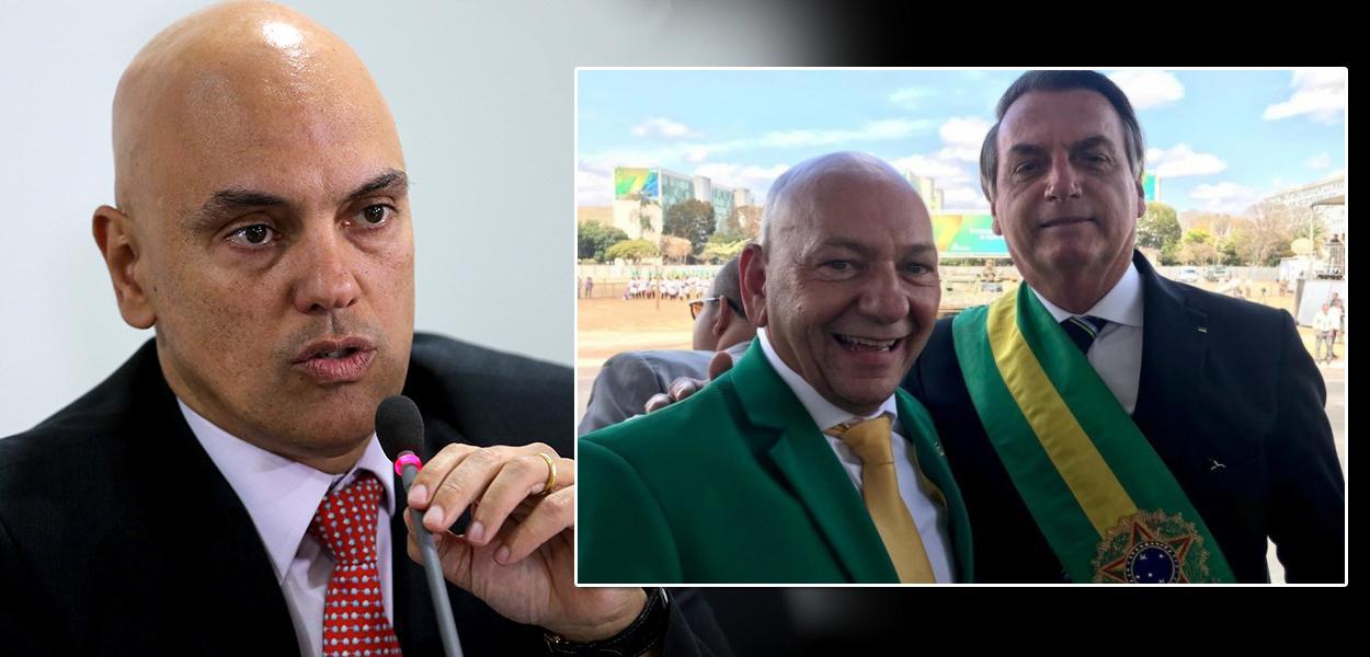 Dono da Havan, Luciano Hang, com Jair Bolsonaro