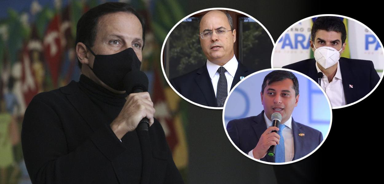 João Doria, Wilson Witzel, Helder Barbalho e Wilson Miranda Lima