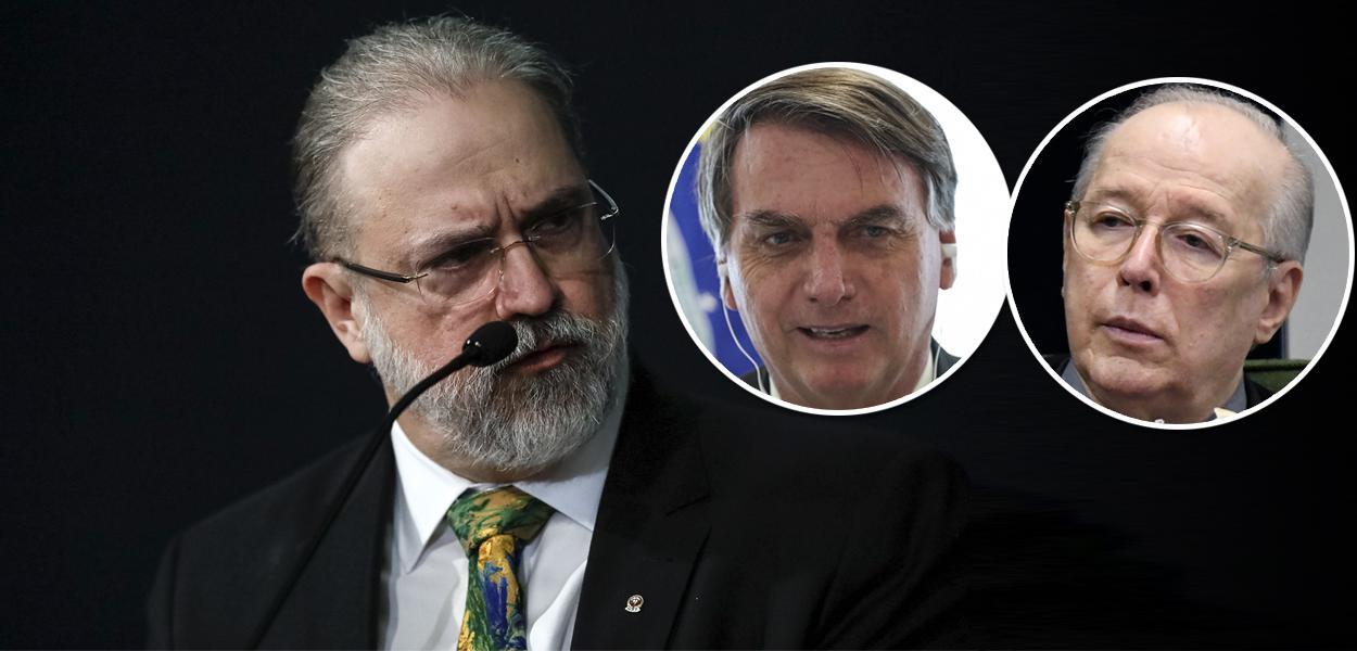 Augusto Aras, Jair Bolsonaro e Celso de Mello