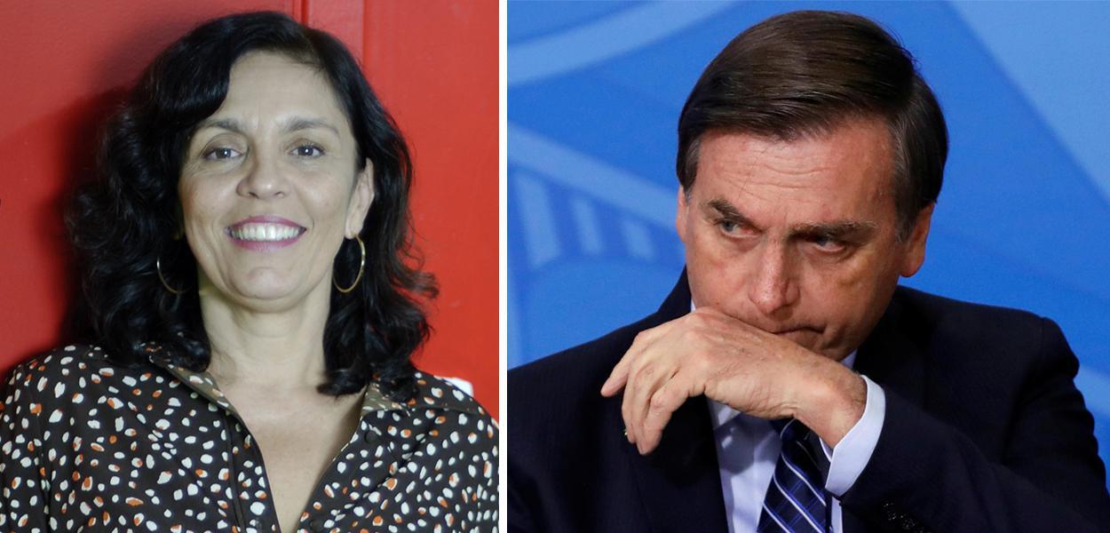 Cynara Menezes e Jair Bolsonaro