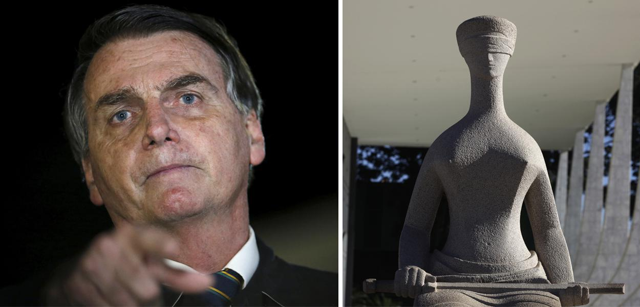 Jair Bolsonaro e fachada do STF